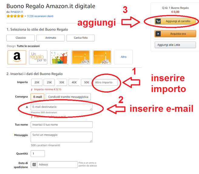 Offerte amazon prodotti plus for Regalare buono amazon