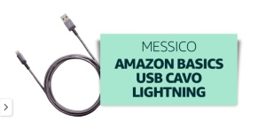 Cavo usb lightning venduto e spedito da Amazon