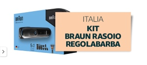 Braun regolabarba venduto e spedito da Amazon