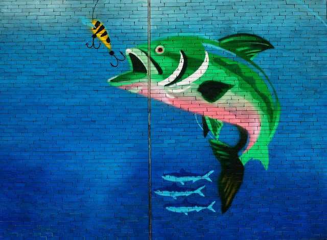 green-fish-about-to-eat-the-fish-hook-wall-art-1569002